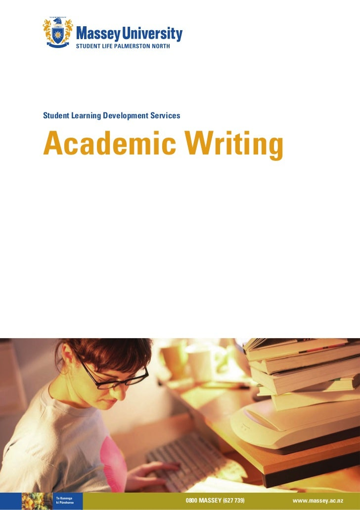 Student Learning Development ServicesAcademic Writing                                        0800 MASSEY (627 739)   www.m...