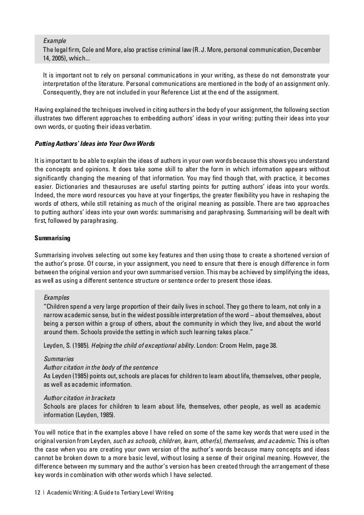 academic writing guide Academic writing: a guide to tertiary level writing this resource has been designed for massey university students who are new to the conventions of academic writing.