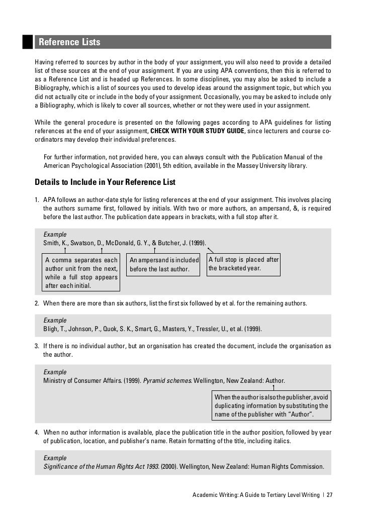 Academic writing needed guide