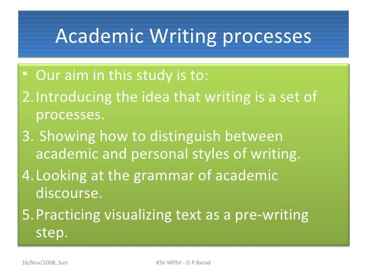 Academic writing professional writing