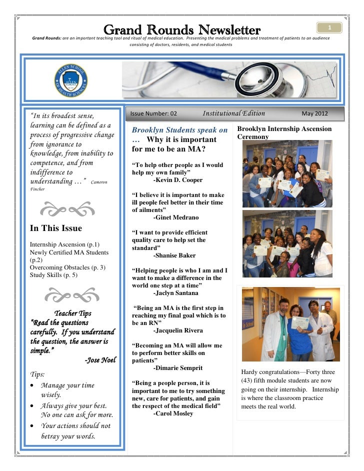 Grand Rounds Newsletter                                                                                           1 Grand ...
