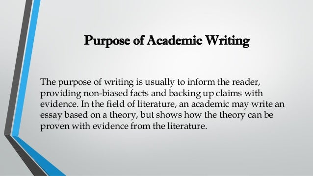 THE PURPOSE OF ACADEMIC WRITING PDF DOWNLOAD