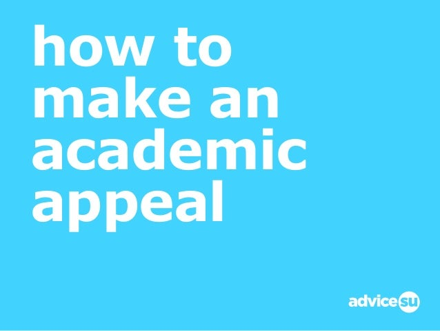 how to make an academic appeal