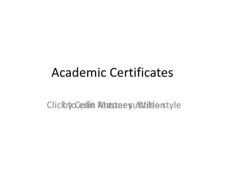 Academic CertificatesClick toColin Master subtitle style    by edit Antoney Wilson
