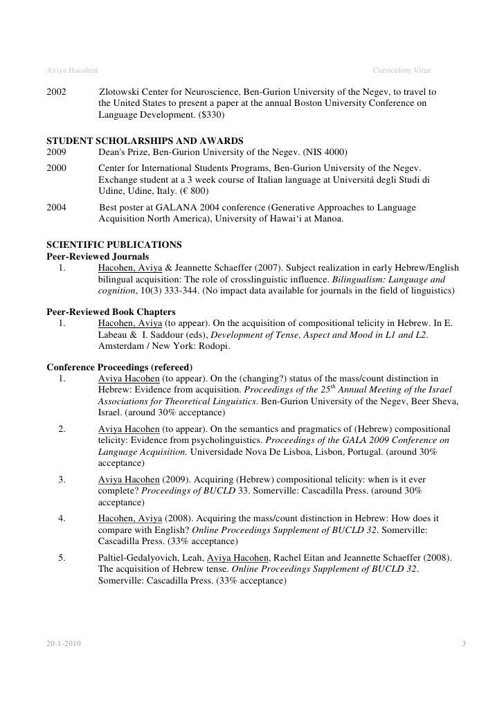 SlideShare  Academic Resume Examples