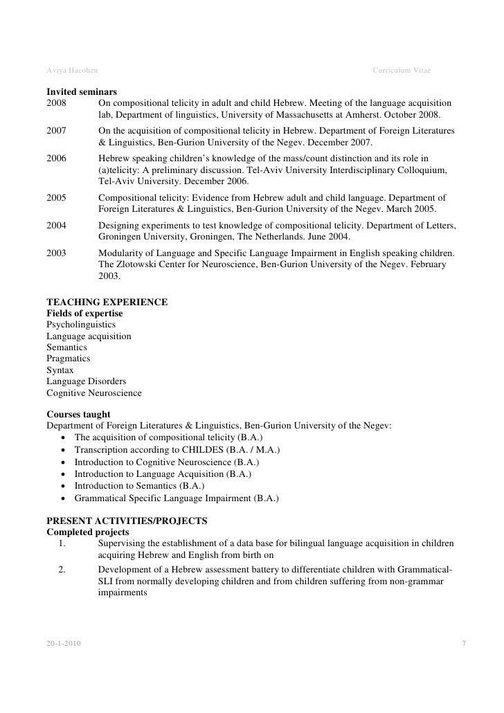 My resume talks