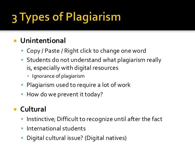 Intentional and Unintentional Plagiarism