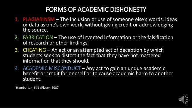 types of dishonesty