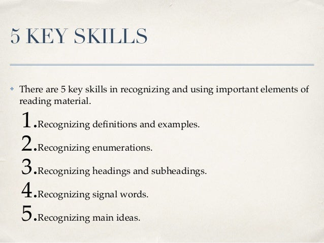 12 5 key skills there are