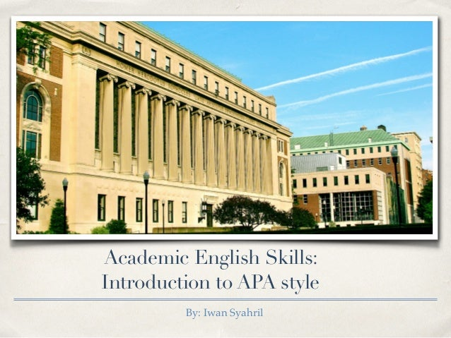Introduction to academic writing skills