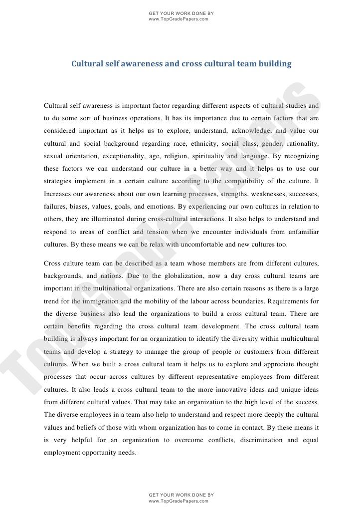 Cultural Awareness - Words | Essay Example