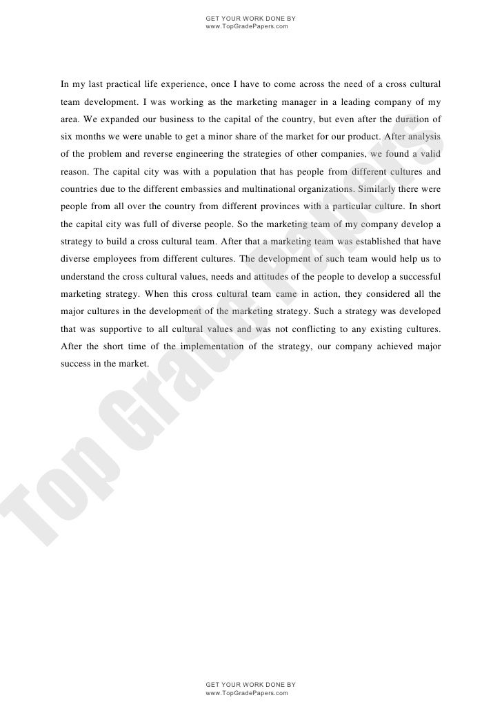 Managing Across Cultures Research Marketing Essay