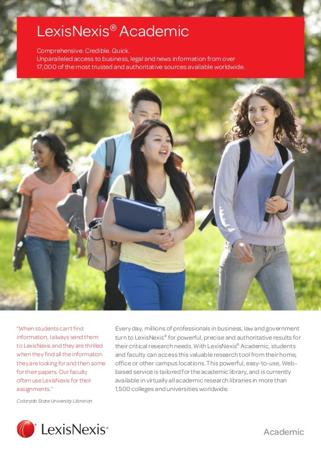 Brochure LexisNexis Academic