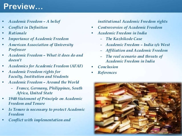 Creative And Academic Freedom Under Threat From Religious: Academic Freedom