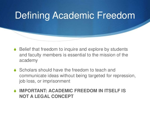 academic freedom Real talk | when universities value money more than academic freedom by  cameron dichter 10/23/17 3:22am after his tweets linking the mass shooting in.