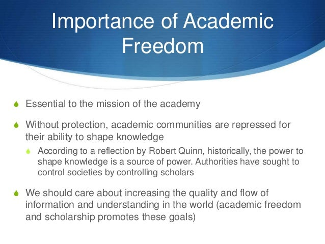 academic freedom essay
