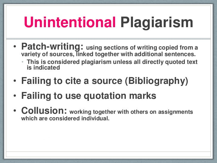 Patchwriting and plagiarism