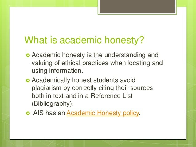 explain the concept of academic honesty and how to advoid plagiarism These standards and policies attempt to do more than define and condemn what  is wrong or unethical they also attempt to provide a foundation  depauw's  academic integrity policy defines plagiarism as follows:  use the resources  described below to better understand how to use sources correctly and avoid  plagiarism.
