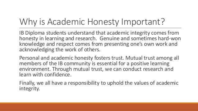 Academic honesty in the ib diploma
