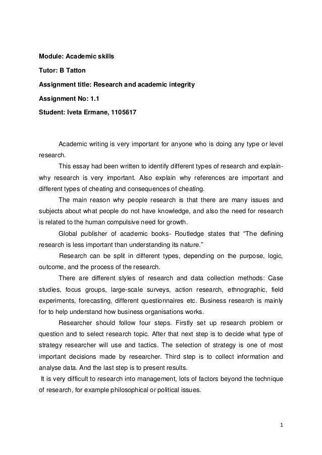 Module: Academic skillsTutor: B TattonAssignment title: Research and academic integrityAssignment No: 1.1Student: Iveta Er...