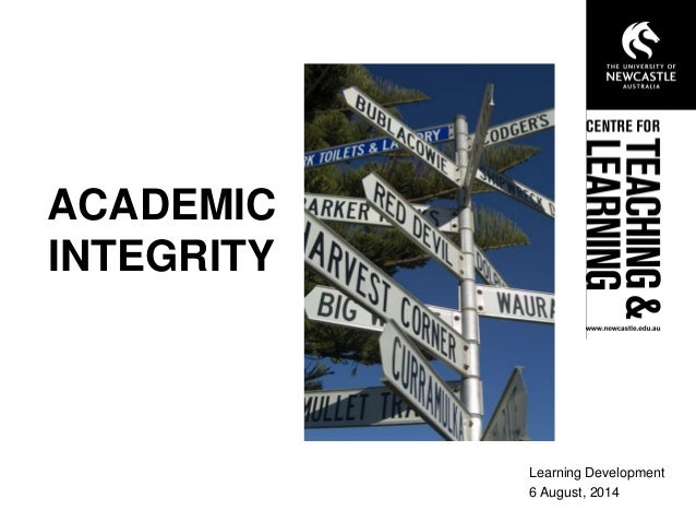 academic integrity 5 Chapter 5: academic integrity and documentation academic integrity in writing from source materials, integrity is the standard integrity and documentation are interrelated.