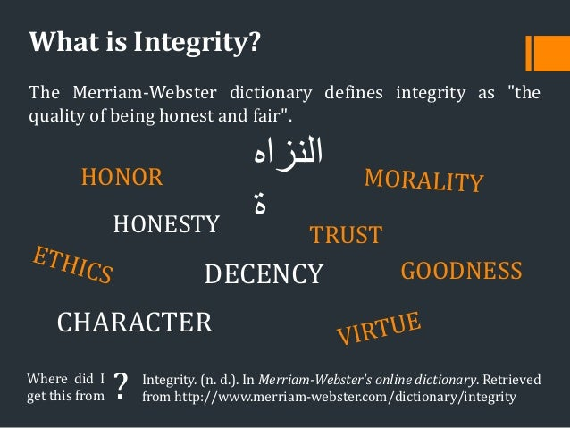 academic integrity 5 The principles of academic honesty and integrity are fundamental to a community  of scholars the university expects that students will not.