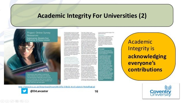 Academic Integrity - What Does This Term Mean For Students? - Univers…