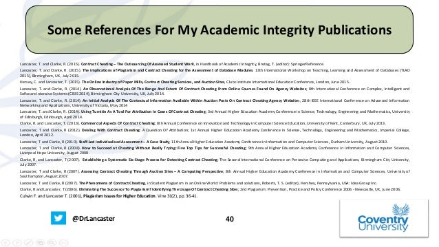 a what does academic integrity mean Academic integrity means honesty and responsibility in scholarship academic assignments exist to help students learn grades exist to show how fully this goal is attained therefore all work and all grades should result from the student's own understanding and effort.