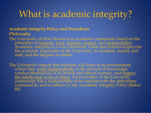 What is academic honesty