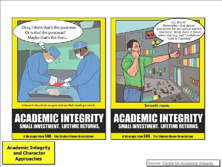 academic integrity assignment A high standards of academic integrity are crucial for the university to fulfill its   individual performance and should not assume any assignment given by any.