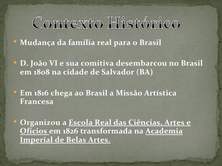 Academicismo e neoclassicismo no brasil Slide 2