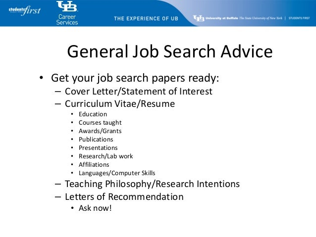 at buffalo career services academic search