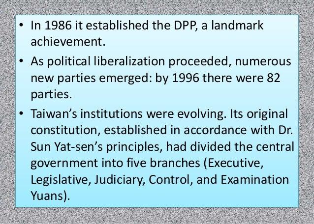 Democratization Process in Taiwan