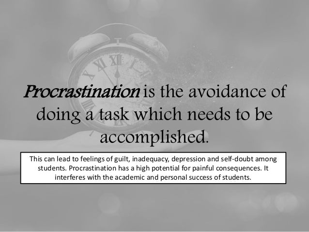 academic procrastination The current study aimed to examine the relationships between academic self- efficacy, the big five personality traits (extraversion, agreeableness,.