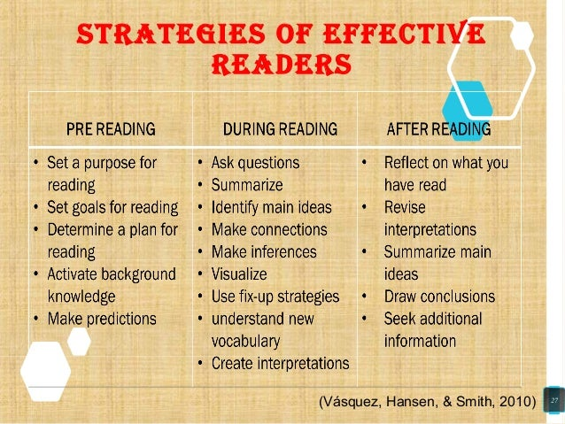 strategies oF eFFective readers (Vásquez, Hansen, & Smith, 2010) 27