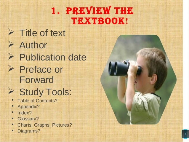  Title of text  Author  Publication date  Preface or Forward  Study Tools:  Table of Contents?  Appendix?  Index? ...