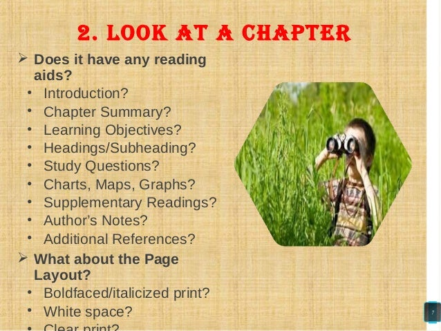  Does it have any reading aids? • Introduction? • Chapter Summary? • Learning Objectives? • Headings/Subheading? • Study ...