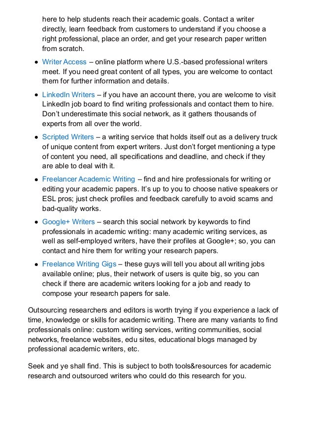 academic research tools and resources to help you write a good pa  papers for professional academic researchers and writers meet 4