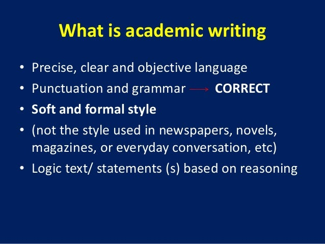 Academic research and writing Slide 2