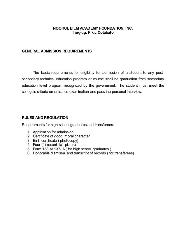 Academic rules for tesda programs yadclub Choice Image