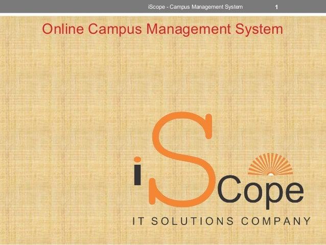 Online Campus Management System 1iScope - Campus Management System