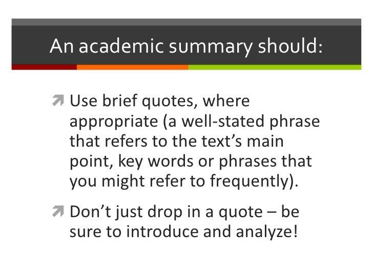 academic summary Title: academic summary: a basic academic genre for eflte authors: didiê  ana ceni denardi (teacher of english at universidade tecnológica federal.