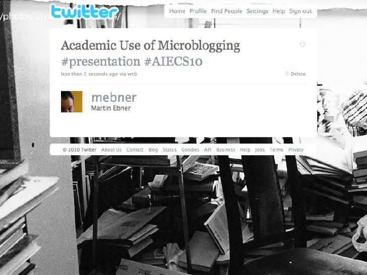 Acadmice Use of  Microblogging      Martin Ebner