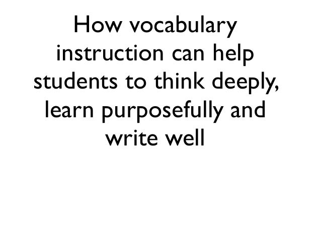 Academic Vocabulary Instruction Strategies