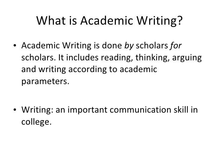 Academic vs. Professional Writing