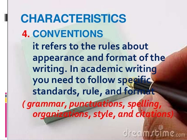 rules for academic writing Bcc academic rules and regulation (final version june 2018) p 9 committee on academic standing 11 authority of the committee on academic standing a.