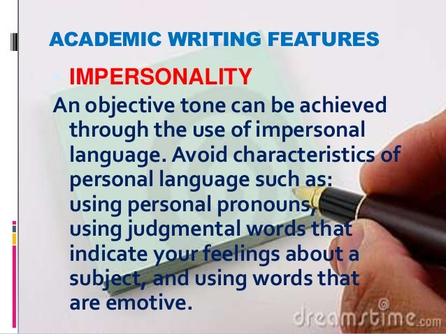 Objective tone in essays