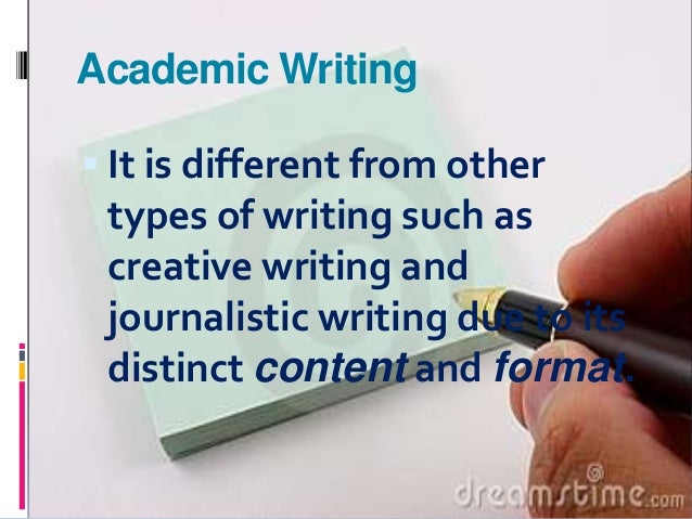 Four Characteristics Of Academic Writing