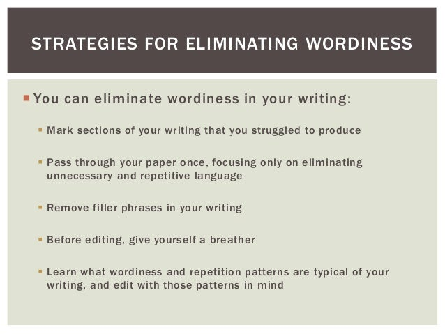 ELIMINATING WORDINESS PDF DOWNLOAD