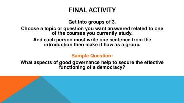 group activity essay writing He following are samples of group writing activities offered by the center for instruction development and research at university of washington at seattle.